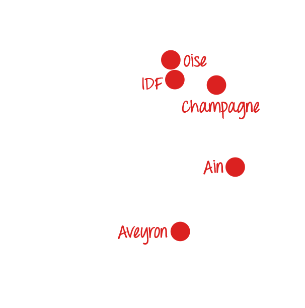 5 exploitations en France
