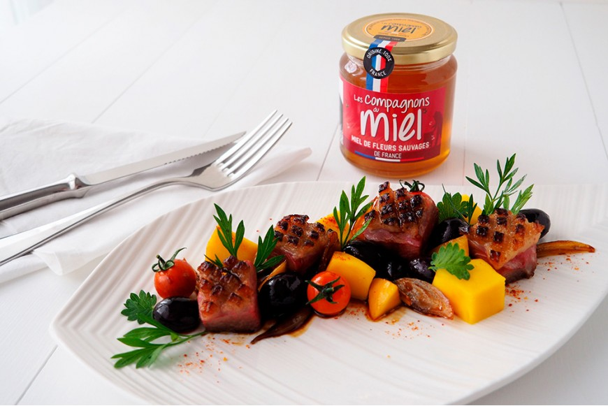 Recette Filet de Canard rôti au Miel de Fleurs Sauvages